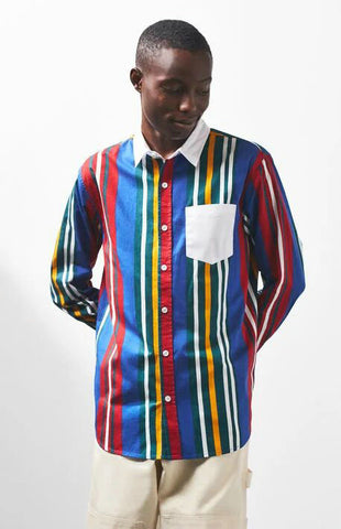 BOOPDO LONDON FESTIVAL LONG SLEEVE SHIRT IN MULTI COLOR
