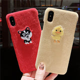 CAT DUCK PIG CLOTH PATTERN APPLE IPHONE CASES