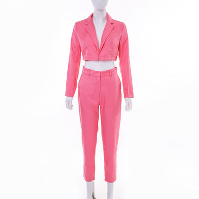 ZOFO TATA SHEMODA FRENCH STYLE THIN CASUAL WOMENS SUIT - boopdo