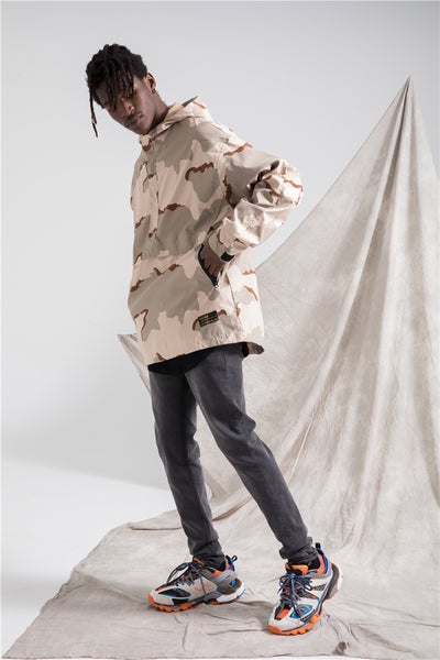 JOGGY ZAPO DESERT CAMO WINDBREAKER WITH HOODIE