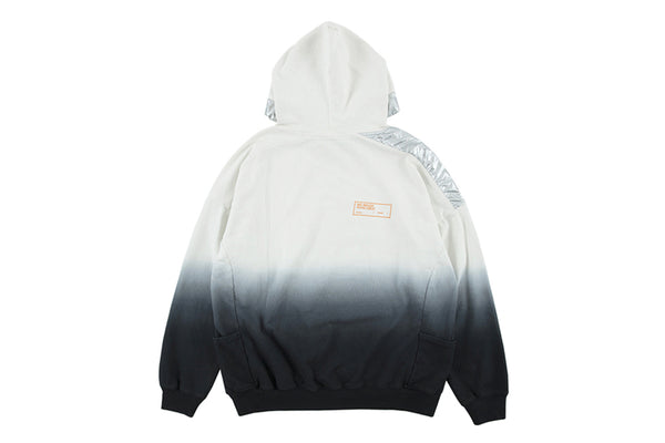 THE PLEXI TIE DYED HIPSTER PULLOVER HOODIE IN WHITE BLACK