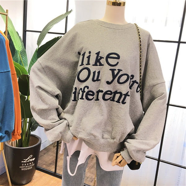 SIMDA I LIKE YOU ARE DIFFERENT RELAXED SWEATSHIRT - boopdo