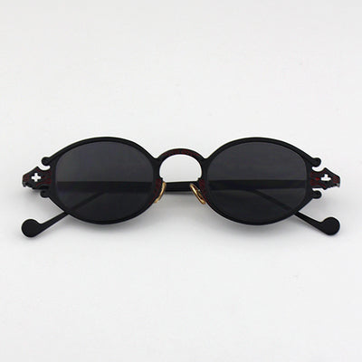 LAVOGUES BOOPDO METAL CARVED RETRO LUXURY DESIGN ROCK PUNK SUNGLASSES