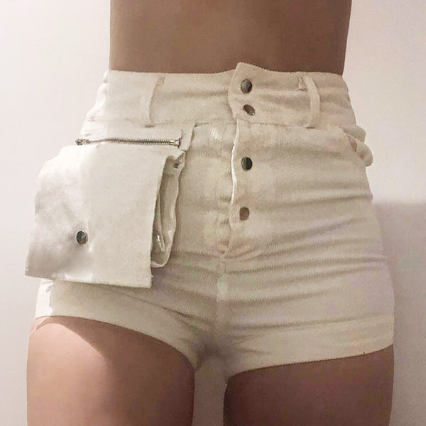 JANE ROZA SHEMODA HIGH WAIST WOMENS SHORT - boopdo
