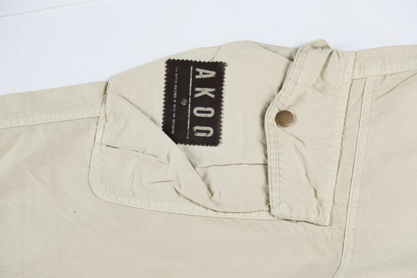LOROG BOOPDO MULTI POCKET OLD SCHOOL TRACK PANTS IN BEIGE - boopdo