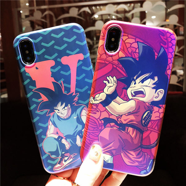 DRAGON BASKETBALL BLUE RAY CARTOON APPLE IPHONE SILICONE PROTECTIVE PHONE CASE