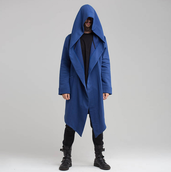 JOURNEZ CONTEMPORARY SHAWL LONG CARDIGAN COAT WITH HOODIE - boopdo