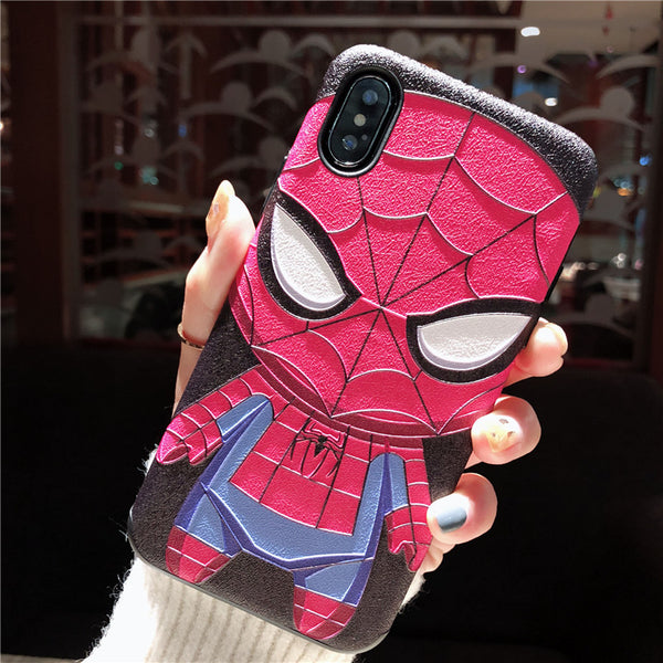 batman spider man cartoon apple iphone silicone protective phone cover