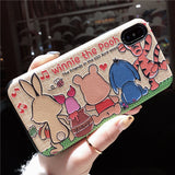 CARTOON WINNIE THE POOH APPLE I PHONE PROTECTIVE PHONE COVER PHONE CASES - boopdo