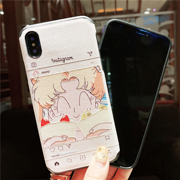 INSTAGRAM GIRL APPLE IPHONE SILICONE PROTECTIVE PHONE CASE - boopdo