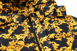 GOLD CHAIN LEAFS DREAM OF WEST COAST THICK BOMBER JACKET - boopdo