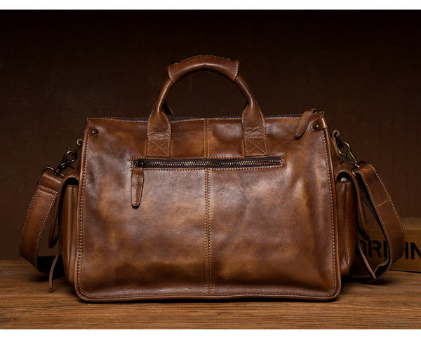 MANTIME FOURTH NEW YORK DESIGN HANDMADE LEATHER TOTE BAG - boopdo