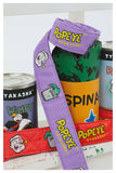 TYAKASHI POPEYE CARTOON PRINT WEBBING BELT