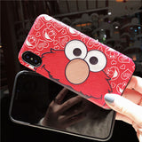 SESAME STREET ELMO CARTOON PRINT RED IPHONE CASES