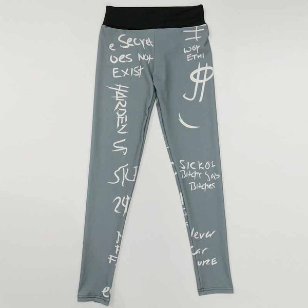 ZUMBA GIRLS ALL OVER LETTERS PRINT LEGGINGS
