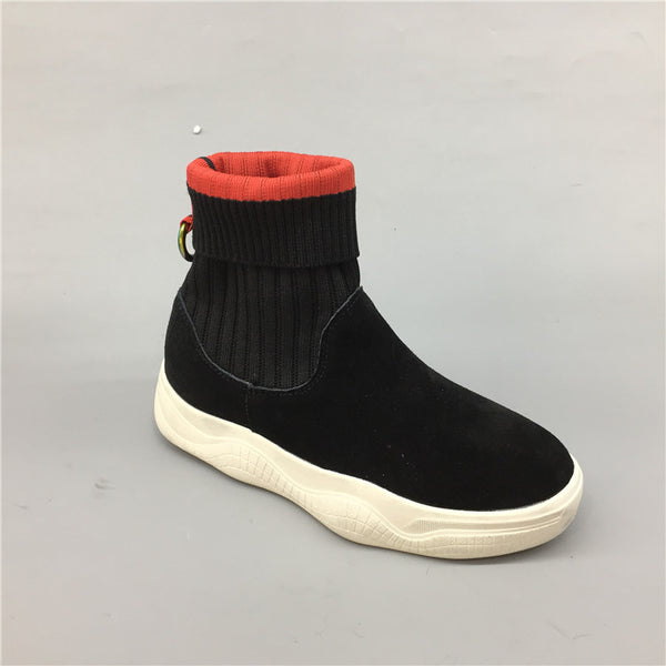 BOOPDO DESIGN SOCK BOOT TRAINERS IN BLACK
