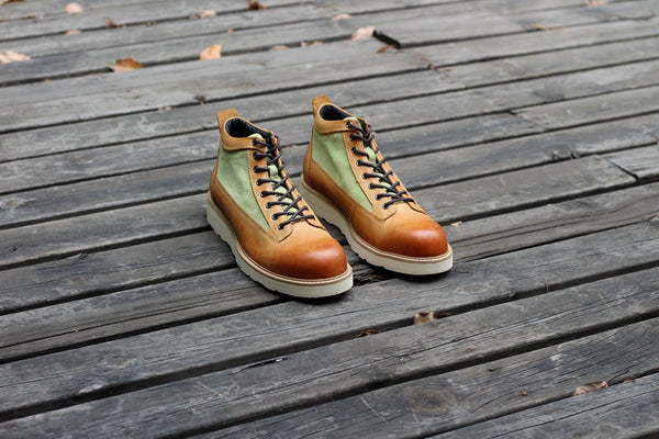 NIL ADMIRARI MOKEY WING RETRO LEATHER BOOTS - boopdo