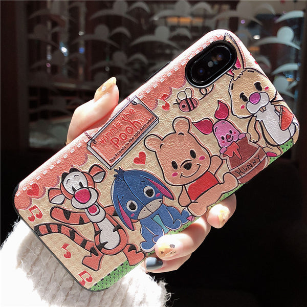 CARTOON WINNIE THE POOH APPLE I PHONE PROTECTIVE PHONE COVER PHONE CASES