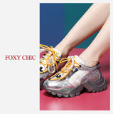 FOXY CHIC ELISA HERRERO LUXURY DESIGN CHUNKY SOLE CASUAL WOMEN SNEAKER - boopdo