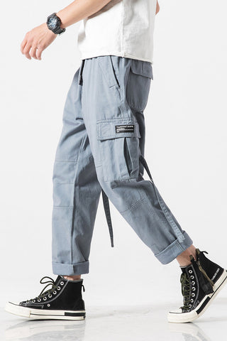 ADAM FREAK CAPWAVE STRAIGHT CASUAL TRACK PANTS WITH ROPE