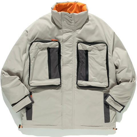 ALPINE HIGH NECK PADDED JACKET WITH FUNCTIONAL POCKETS