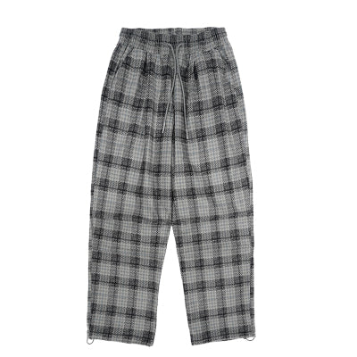 DANNY TAYLO BTW CORDUROY PLAID CASUAL PANTS - boopdo