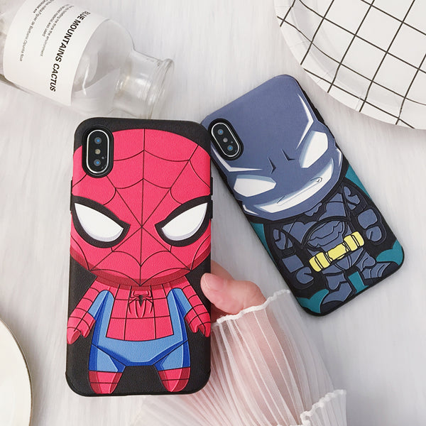 SUPER CARTOON HEROES APPLE IPHONE CASES - boopdo