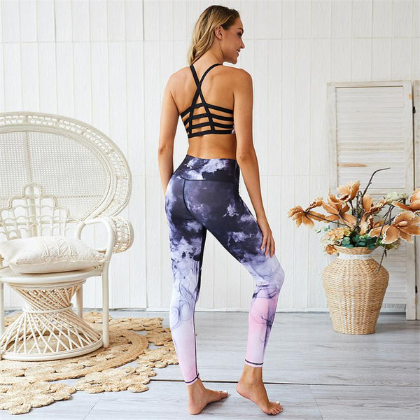 ZUMBA GIRLS MARBLE PRINT LEGGINGS
