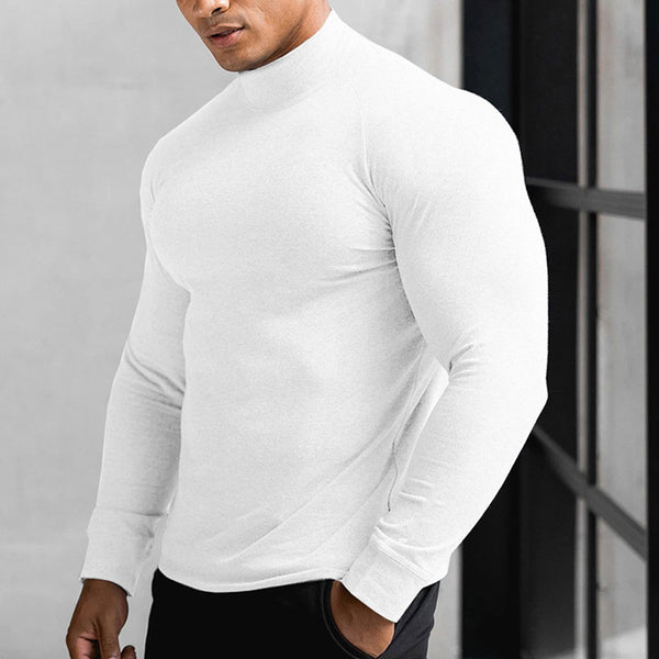 MUSCLE KING RANGERS HIGH NECK TIGHT FITNESS T SHIRT - boopdo