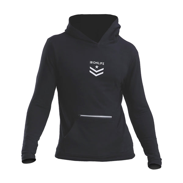 IRON LIFE ATHLETICS BODYBUILDING SPORTSWEAR FITNESS HOODIE PULLOVER - boopdo