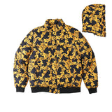 GOLD CHAIN LEAFS DREAM OF WEST COAST THICK BOMBER JACKET
