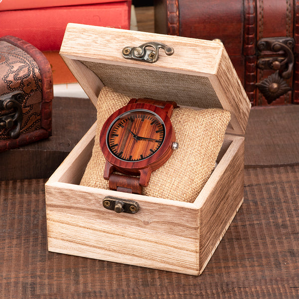BOBO BIRD HANDMADE CRETIVO SANDALWOOD WOODEN WATCH