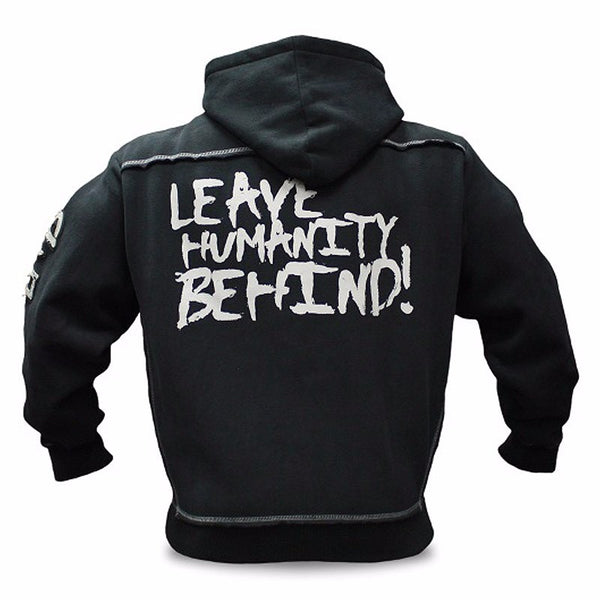 MUSCLE MIRA ZIP THROUGH WOOLEN HOODIE WITH LETTERS PRINTED W30 - boopdo