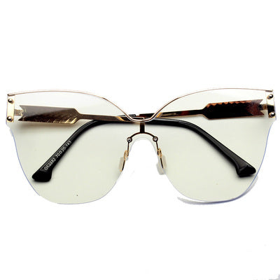AVANT GARDE DECORATIVE MIRROR LARGE FRAME ANTI UVA UVB SUNGLASSES - boopdo