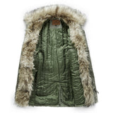 GEEZ ISLAND EURPEX THICK FUR COLLAR COTTON MULTI POCKET JACKET - boopdo
