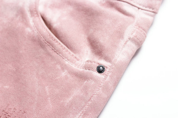 PARKER RIP AND REPAIR WASHED DENIM JEAN PANTS IN PINK