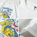TWEAKOLOGY LANNERET TIGERS CREW NECK TEE SHIRT - boopdo