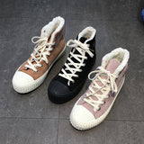 LUXE SEVEN DESIGN HIGH TOP TRAINERS WITH CHUNKY SOLE - boopdo