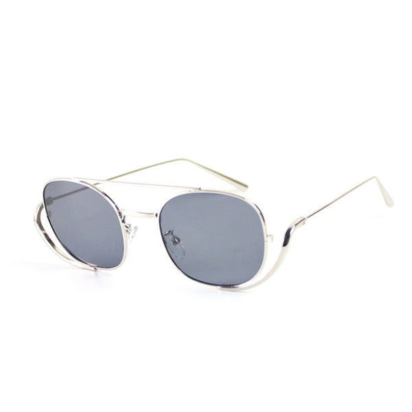 Mezdo Transparent Metal Shape Sunglasses