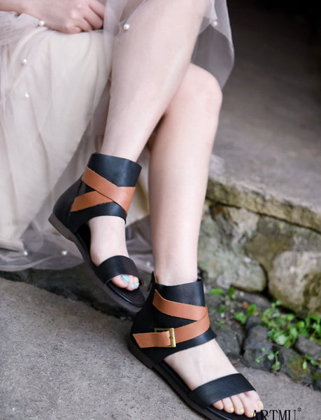 ARTMU WIDE FIT FLAWLESS BUCKLE LEG DESIGN SANDALS