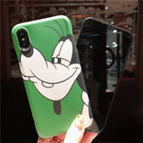 GOOFY AND DUCK APPLE IPHONE SILICONE PROTECTIVE PHONE CASE - boopdo