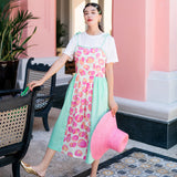 8GIRLS DESIGN STRAPPY MIDI SUMMER DRESS IN FLORAL - boopdo