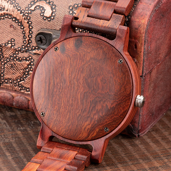 BOBO BIRD HANDMADE CRETIVO SANDALWOOD WOODEN WATCH - boopdo