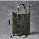 TWENTY FOUR STREET PITOT ORACLE LARGE CAPACITY GREEN TOTE BAG - boopdo