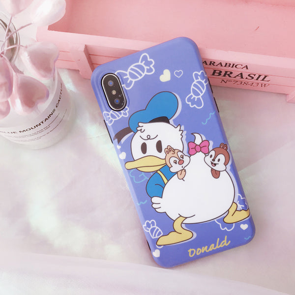 UNCLE DONALDELLO CARTOON PRINT MATTE APPLE IPHONE CASES - boopdo