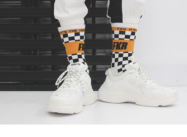 BOOPDO DESIGN FKR PRINT AND CHECK BOARD DESIGN SOCKS