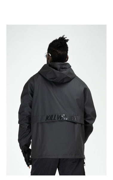 AVENTON KILLWINNER CARPE DIEM OUTDOOR PULLOVER JACKET IN BLACK - boopdo