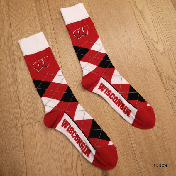 DETROIT SAN ANTONIO WISCONSIN UNIV BASKETBALL SOCKS - boopdo