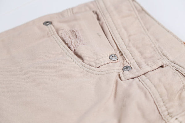TEXANS MONORZA SLIM WASHED DENIM JEAN PANTS IN KHAKI - boopdo