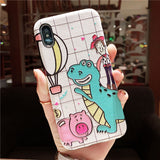LONELY GOD DINOZOR COWBOY AND PIG JAPANESE CARTOON APPLE IPHONE COVER